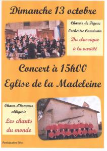 Concert Albi Octobre 2019